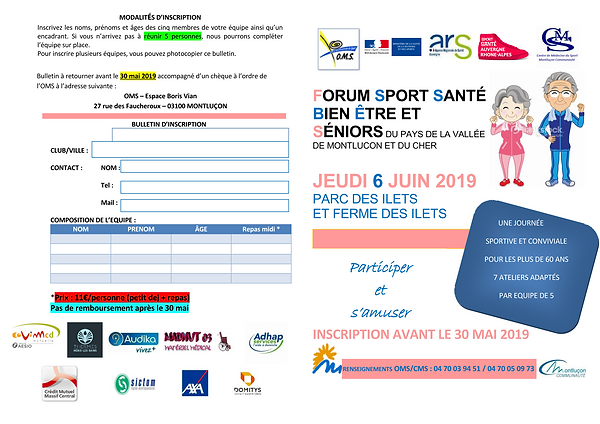 CHALLENGE SENIORS FICHE INSCRIPTION  201