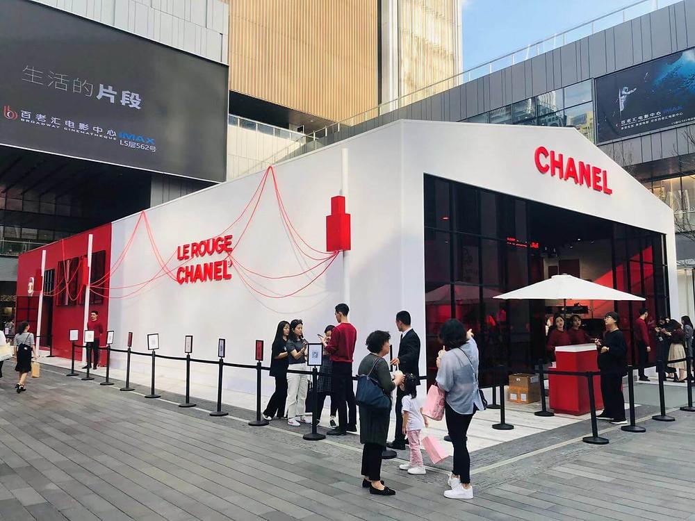 Chanel's pop-up store in Shenzhen