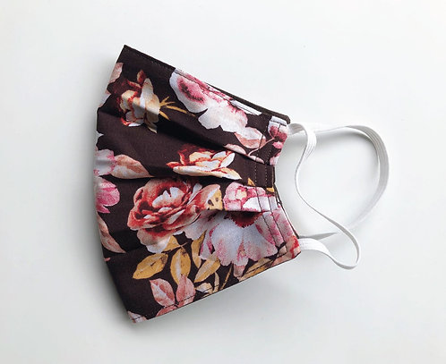 Cotton Face Mask - Flowers and Chocolate