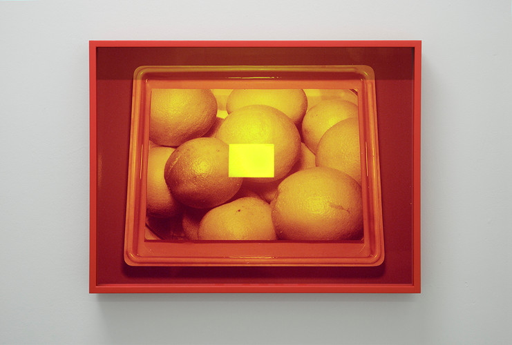 Untitled (Yellow-Red) After Anne Collier
