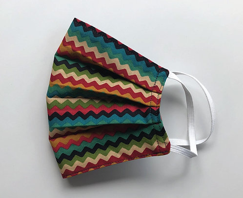 Cotton Face Mask - Earthy Zig Zag