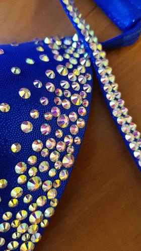 crystal bra fitness bikini