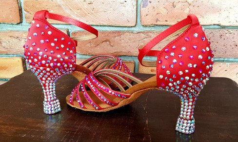 red crystal shoes
