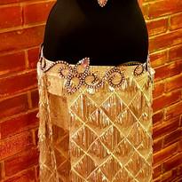 natur belly dance costume