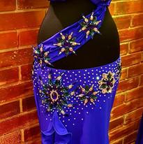 blue belly dance dress