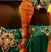 flower bellydance dress