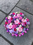 Mixed pink and lilac posy