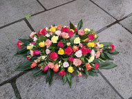 Bright carnation top spray