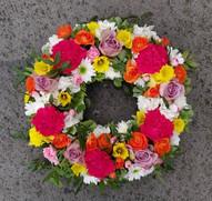 Spring colour open wreath
