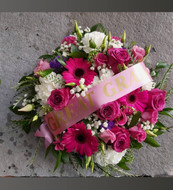 Pink domed posy