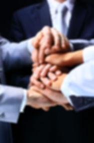 International business team showing unit