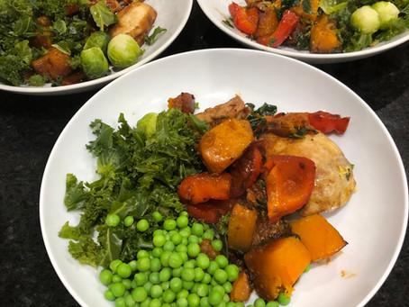 Chicken and Butternut Squash Traybake (Serves 4)