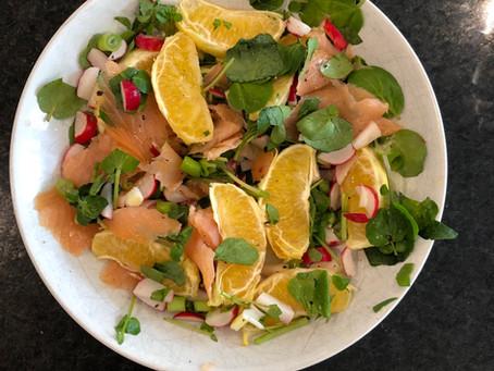 Zingy Smoked Salmon Salad (Serves 2)
