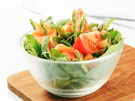 Salmon and Asparagus Salad (Serves 2)