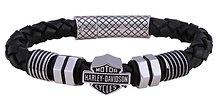 Nut & Bolt Round B&S Braided Leather Bracelet