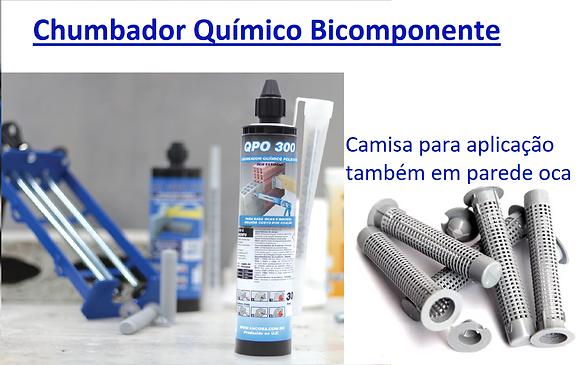 Chumbador Químico Poliéster Bicomponente 300m + 1 bico aplicador