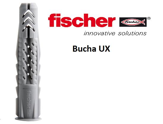 Bucha UX 8 Fischer Nylon diâmetro 8mm (Pacote com 20 peças)