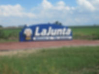 La Junta Welcome Sign Hancock Group Real