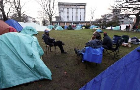 Premier says courthouse campers will be offered housing