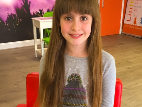An Amazing Well Done this time to Phoebe!! For donating her hair to the Little Princess Trust.