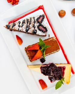 Tiramisu, Flourless Chocolate Cake & Cheesecake