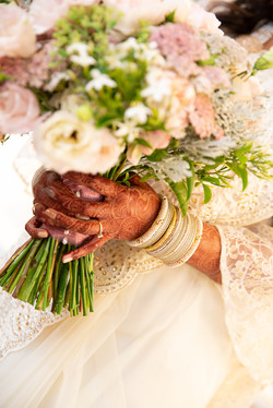 Indian bride, hands painted with hanna