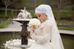 Muslim wedding at the fountain of the Botanical Garden in Wellington New Zealand