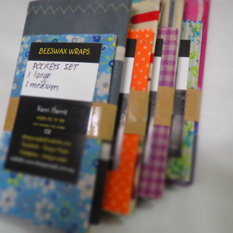 BEESWAX PACKS-SAVE MONEY-GREAT VALUE-EXCLUSIVE TO STRAYA MADE (ELASTIC & POCKETS)