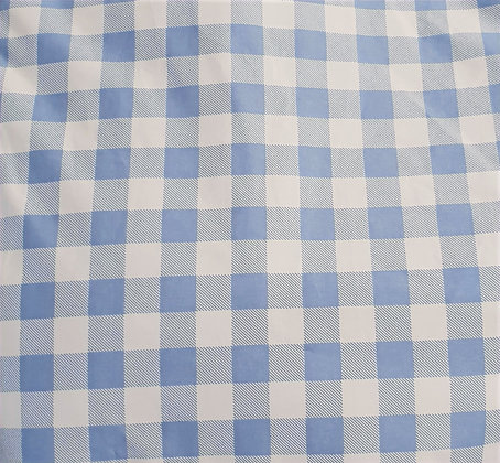 GINGHAM BLUE-universal ironing board cover
