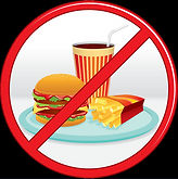 no-fast-food-prohibition-sign-label-vect