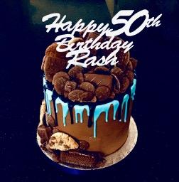 Rash 50th cake
