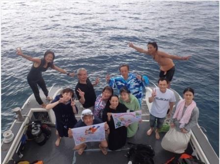 記念ダイビング 慶良間 青の洞窟