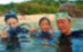 沖縄 青の洞窟 ダイビング 家族旅行 子供 シュノーケ