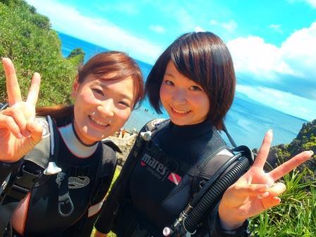 沖縄 梅雨明け 海日和 青の洞窟