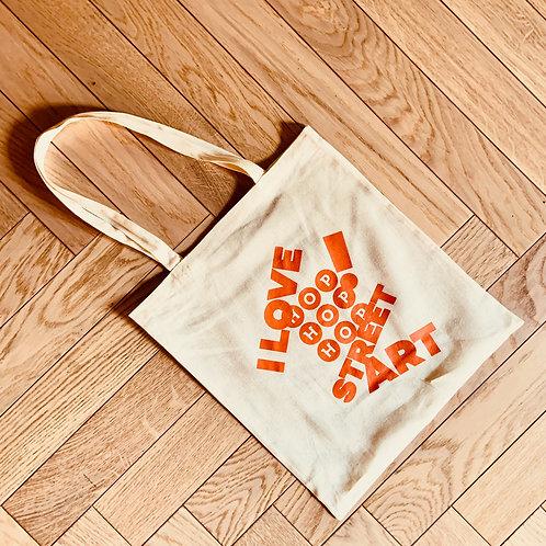 """Tote bag Hop Hop Hop """"I love street art"""""""