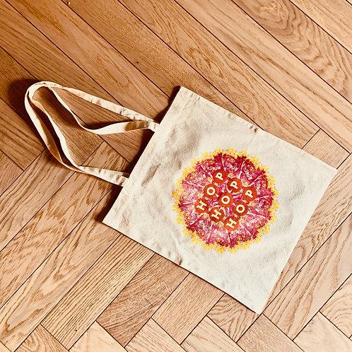 Tote bag Hop Hop Hop - Mandala - logo rouge
