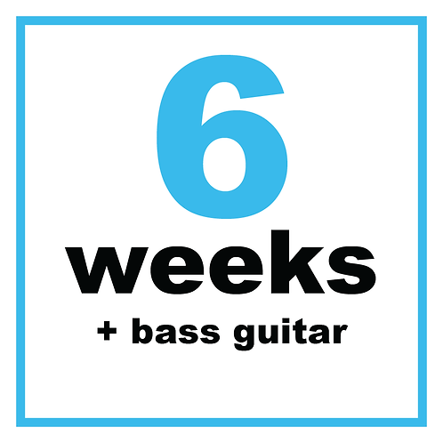 6 Weeks +Bass