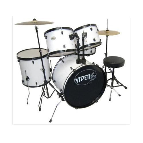 Viper Drum Kit -White