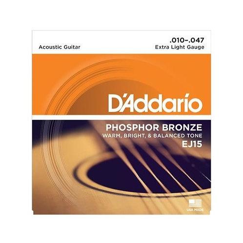 D'Addario Acoustic Guitar Strings - Extra Light