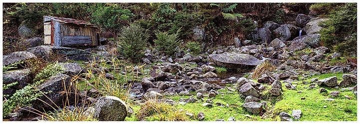 Mining_Granite_Rocks_Stream Bed_Old Shed_Coromandel_New Zealand