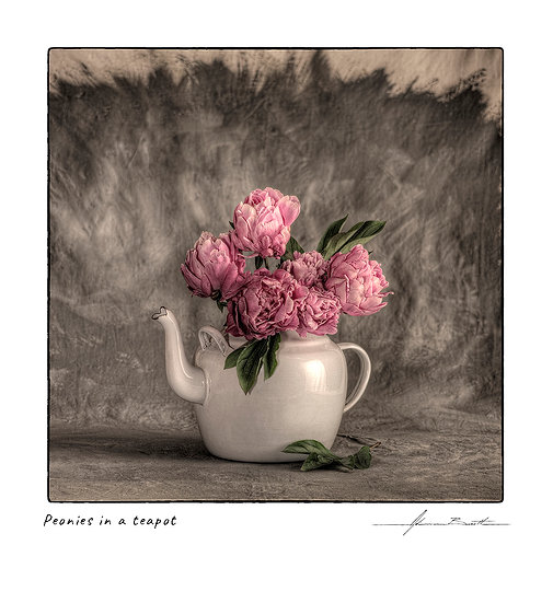 Peonies in a Teapot