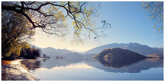 Lake_Wanaka_New Zealand_Water_Island_Autumn_Shore