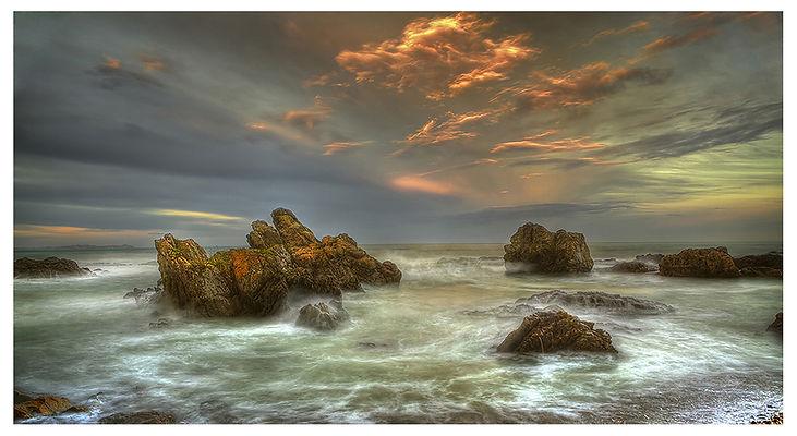 Kaikoura_sea_Rocks_Before Earthquake_Sunset_Clouds
