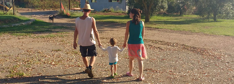 famiglia contadina, cane, campagna