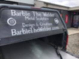 Barbie the Welder Window Decals