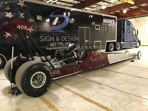 Trailer Wrap and Dragster Decals Race Watkins Glen NY