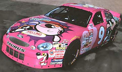 the Power Puff car