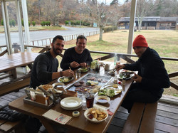 Eating with my boys in Japan