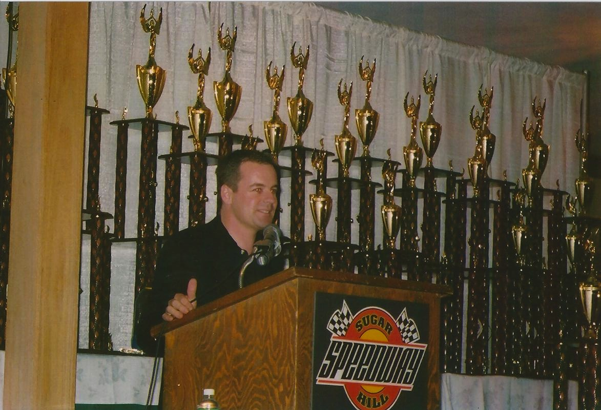 Speaking at Kart Banquet
