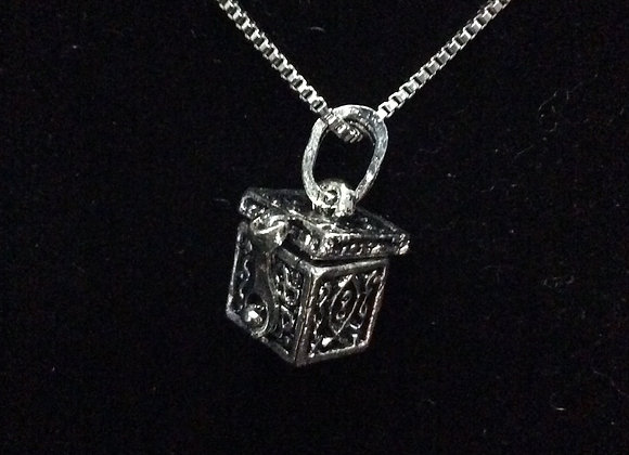 Pandora Box Cremation Necklace